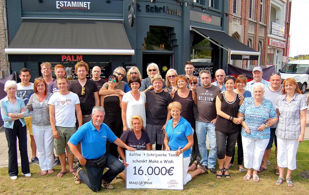 Schrijverke Makes a Wish cheque 2015