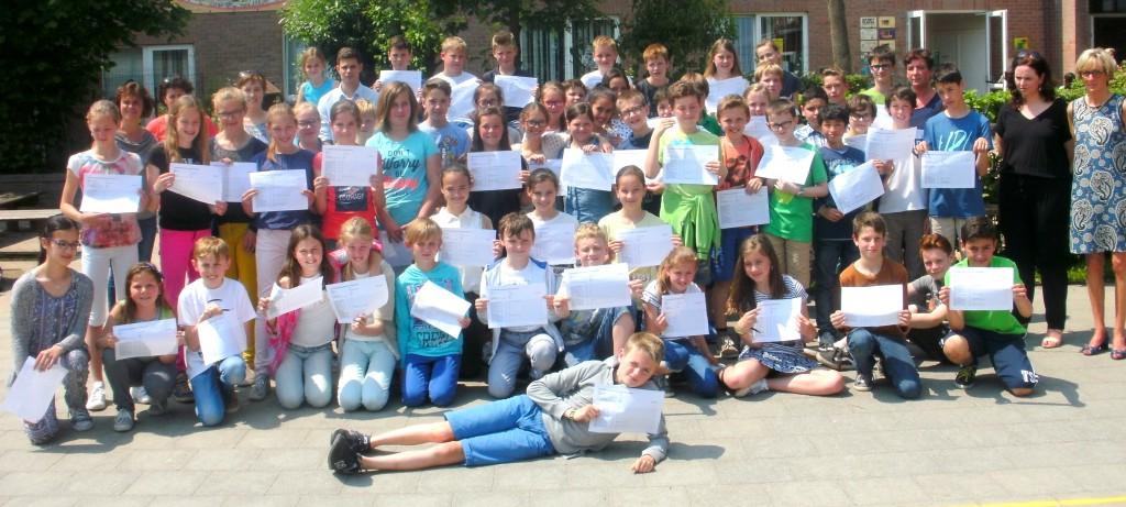 Fietsdiploma's Hollebeek 2016_ok