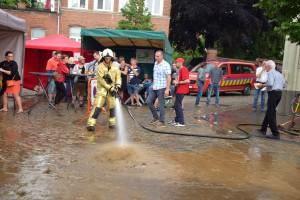 Wolkbreuk Tielrode Brandweer