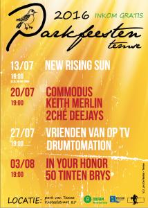 affiche Parkfeesten 2016